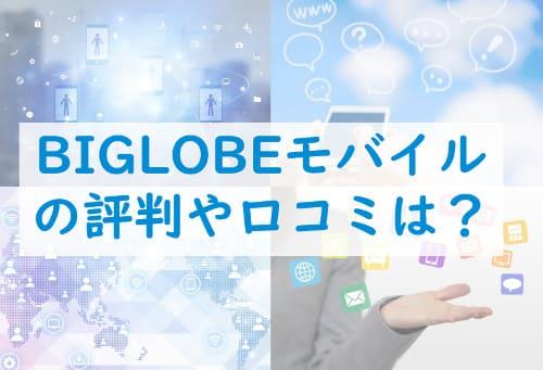 ビッグローブ(BIGLOBE)モバイルの評判・口コミ。